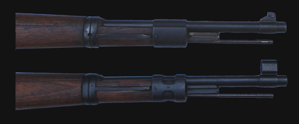 Subtle differences in the production of the K98 rifle.