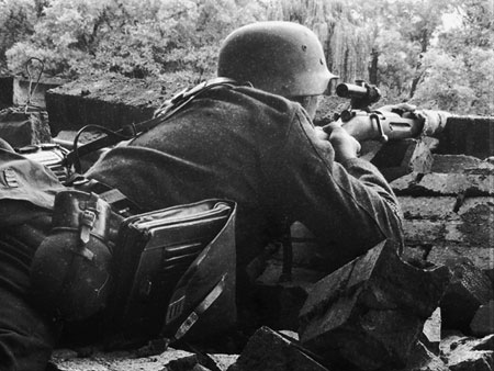 Grossdeutschland  Sniper on the Russian Frontwith Mosin Nagant rifle