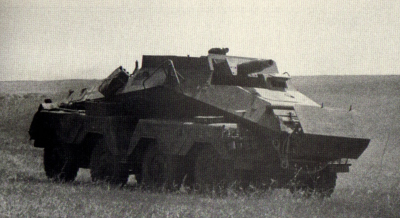 Sd.Kfz.233 armed with the L24 Howitzer gun